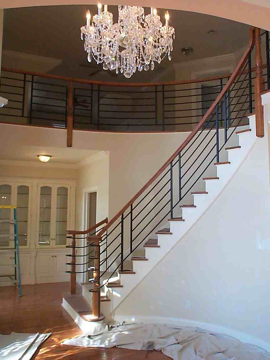Curved staircase for Arched staircase